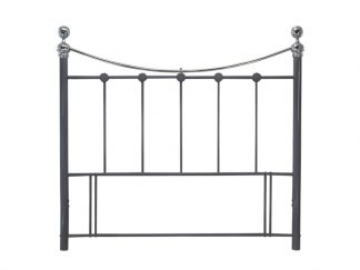CAM-Metal-Headboard-Black