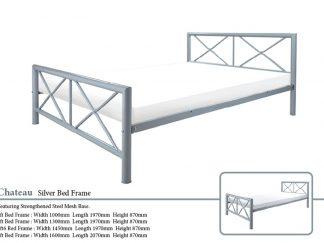 Chateau Metal Bed Frame in Silver