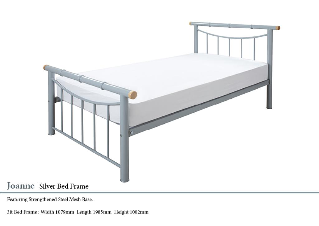 Joanne Silver Metal Bed Frame Paul Paice Blinds Beds
