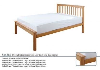 Sandra Beech Hardwood Bed Frame