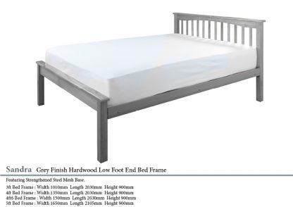 Sandra Grey Hardwood Bed Frame
