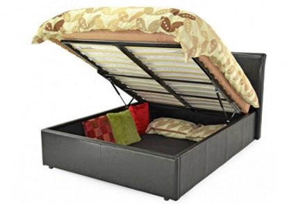 Texas Faux Leather Ottoman Storage Bed