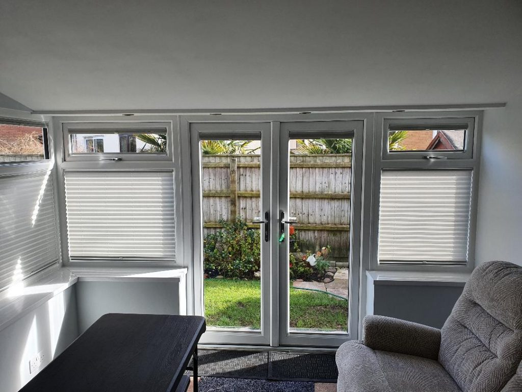 White Pleated Blinds