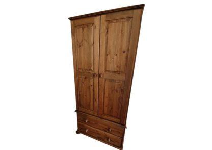 2 Drawer Pine Wardrobe