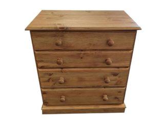 4 Drawer Pine Jumbo Chest of Drawers