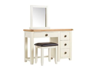 Maine Oak Dresser, Mirror and Stool