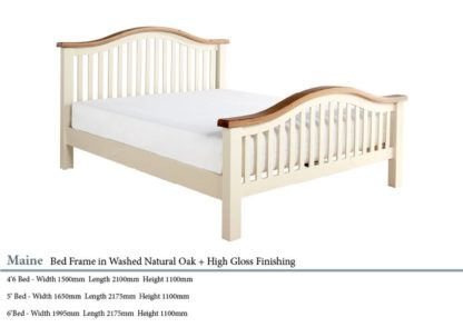 Maine High End Oak Wooden Bed Specifications