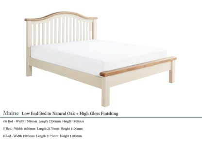 Maine Low End Oak Wooden Bed Specifications