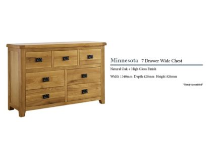 Minnesota 7 Drawer Oak Cabinet Specifications