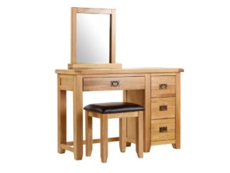 Minnesota Oak Dresser, Mirror and Stool